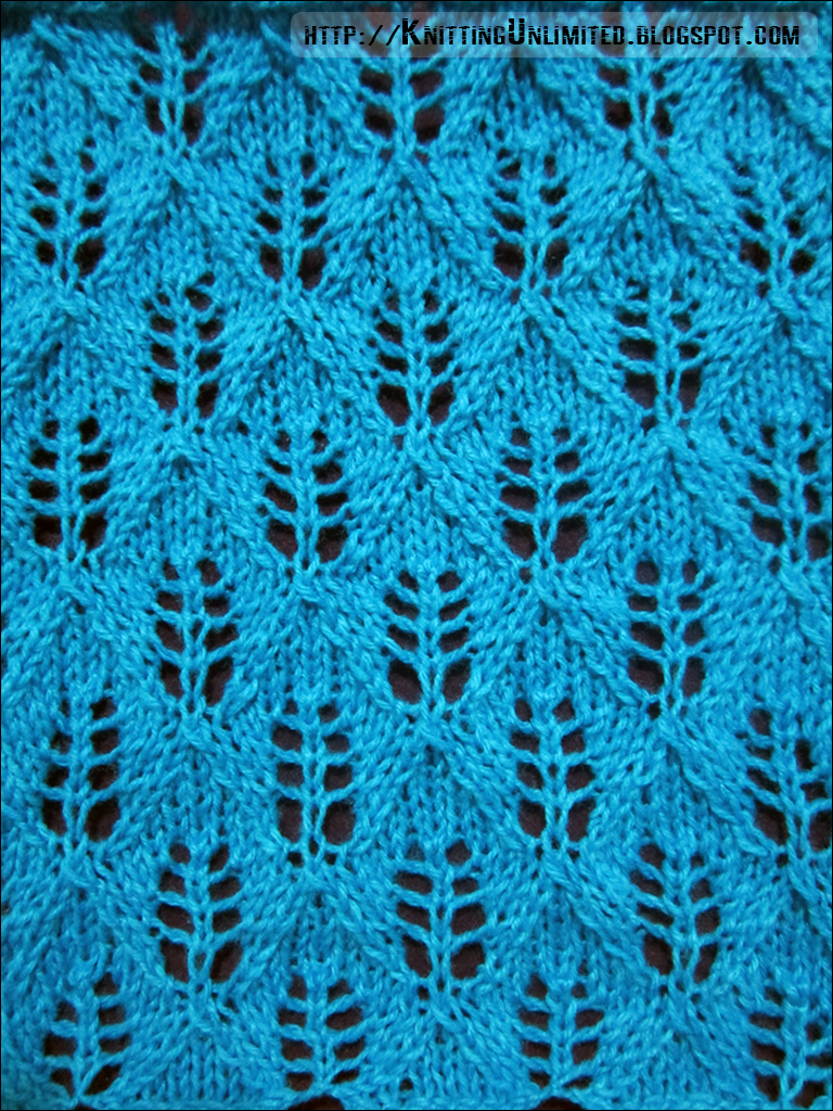 Knitting Stitches Lace Simple : Lace Knitting Pattern 16: Fern Lace Stitch - Knitting Unlimited