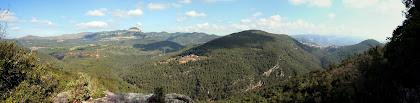 Panoràmica des del mirador de la Vall de Gallifa