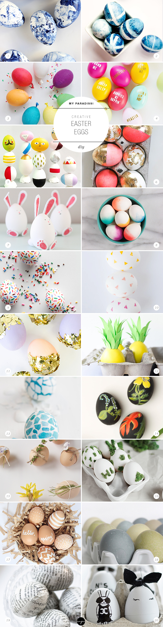DIY: Creative Easter eggs