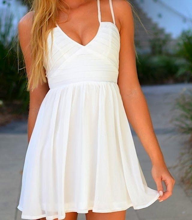 Women 39 S Fashion Little White Dress