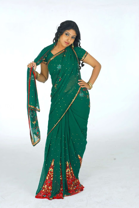 Nikita in a Green Boota Home Wear Saree, Home Wear for Women latest photos
