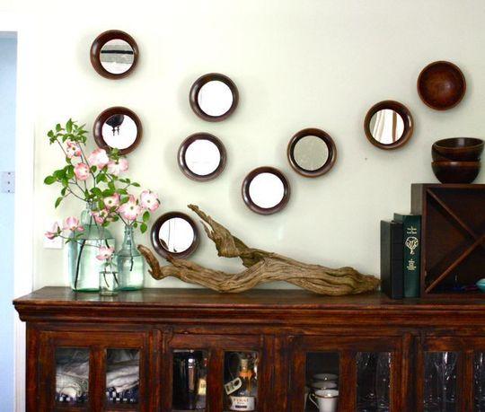 DIY mirror bowls