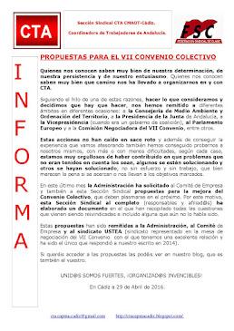 PROPUESTAS PARA EL VII CONVENIO COLECTIVO