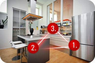 Kitchen concepts the kitchen work triangle for Triangle kitchen island designs
