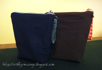 Oh, Fransson! zip pouches, style C, back view
