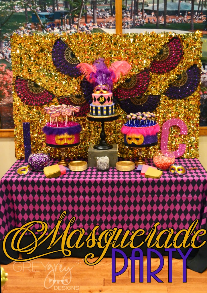#masqueradeparty #teenageparty #18thbirthday #pinkandpurple