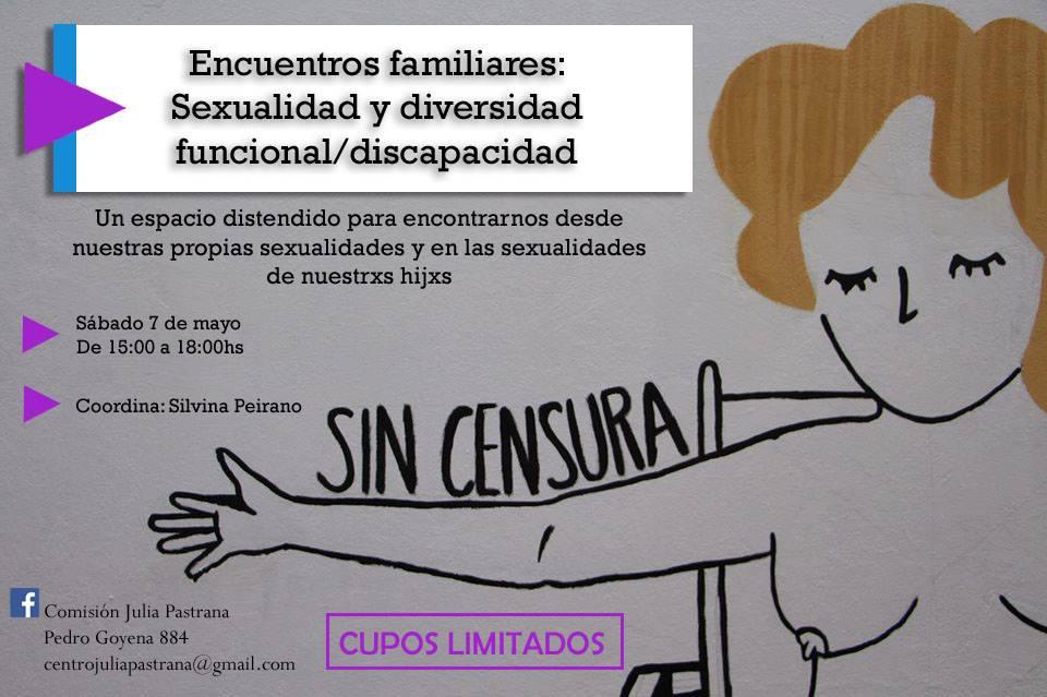 """""""Encuentros familiares: Sexualidad y diversidad funcional/discapacidad.Un espacio distendido para e"""