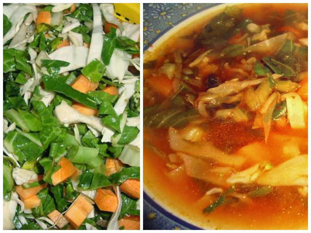 Sopa juliana de verduras
