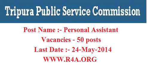 50 personal assistant Posts At TPSC 2014