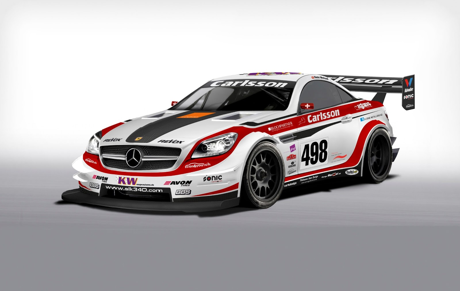 Cars gto carlsson mercedes benz slk race car for Mercedes benz motorsport
