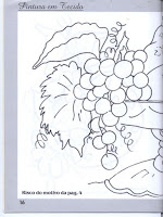 risco de fruteira para pintura em tecido parte 1