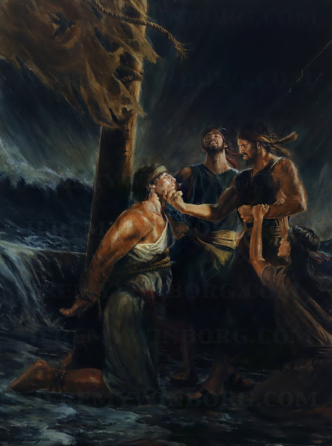 brothers laman and lemuel persecute nephi book of mormon art.jpg