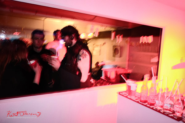Bar side view into the chill-out room, ORGNL.TV - Stolichnaya Vodka, Sydney Launch Party