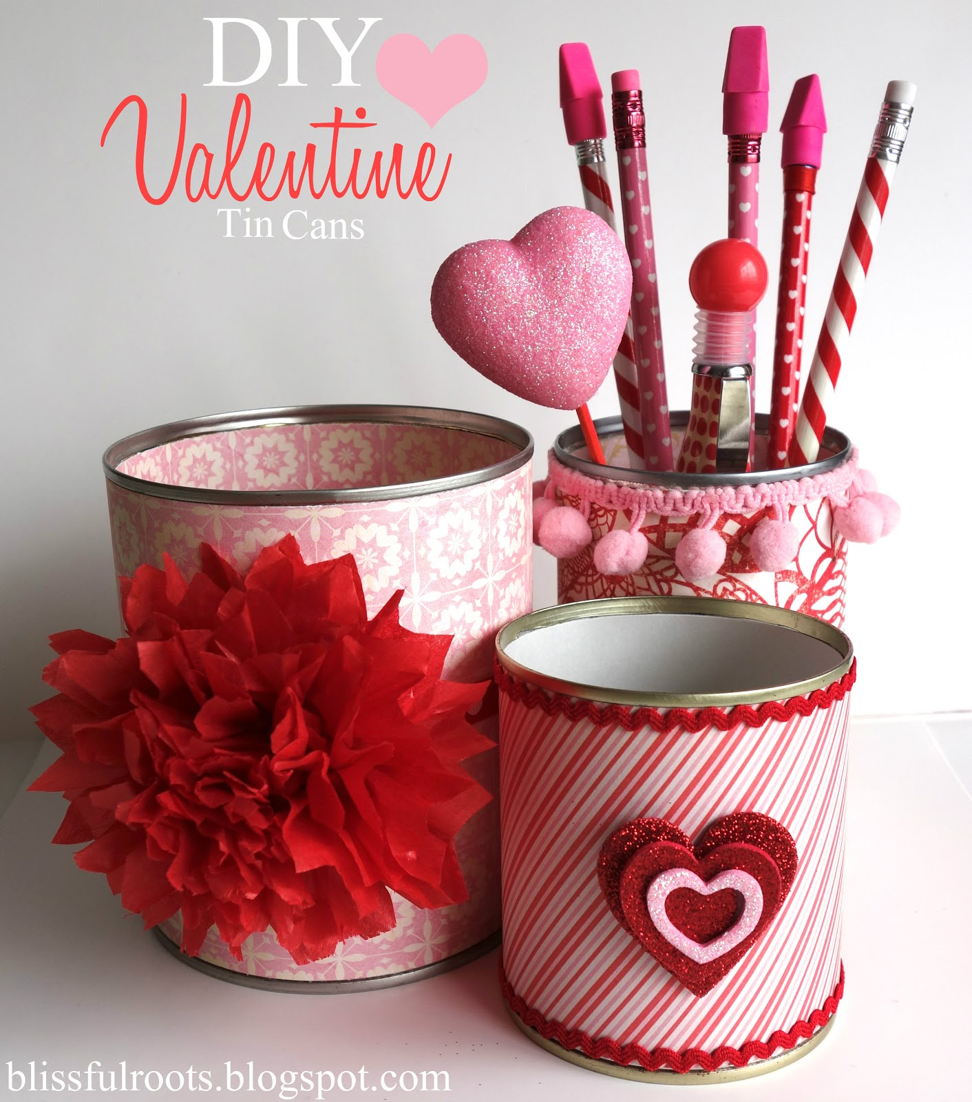 Blissful roots diy valentine tin cans for Tin cans for crafts