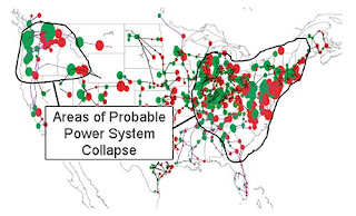 Area of Possible Power System Collapse