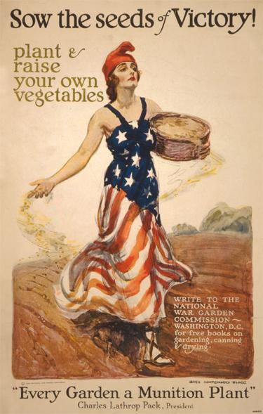 World war i victory garden poster