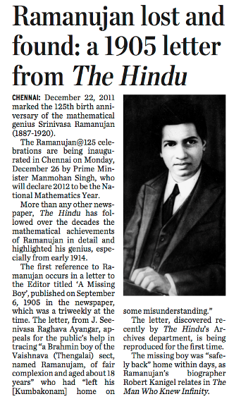 Srinivasa Ramanujan Essay  Vancouver Business Plan Writers also The Criterion Online Writing Service  Assignment Help In Uk