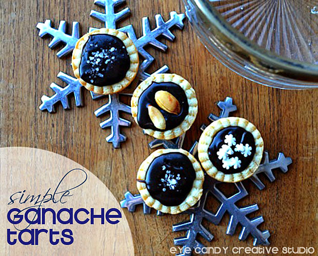 chocolate ganache recipe, simple tarts, holiday treat, pastry