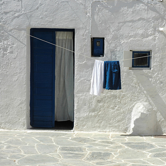 #Blue and #white inspiration in #Folegandros island in #Cyclades. Photo by Didier Morlot.