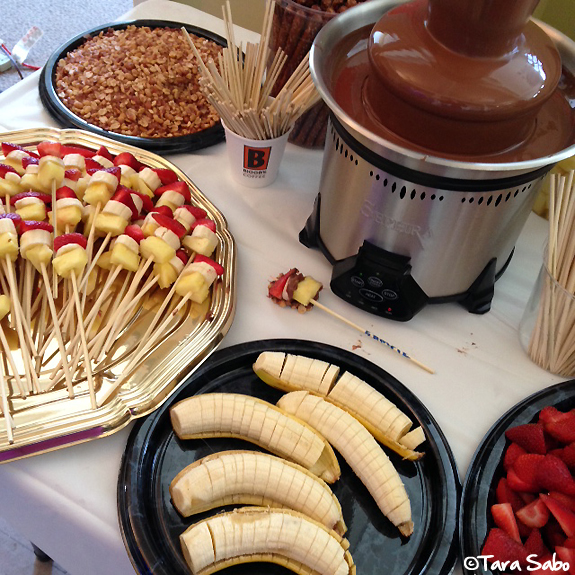 chocolate, fondue, chocolate run, race treats
