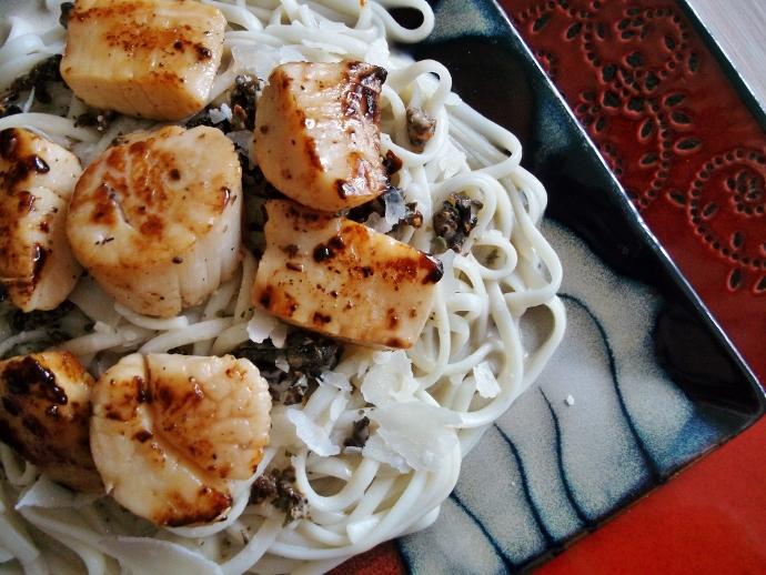 scallop pasta