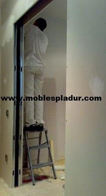 Pladur barcelona puertas correderas - Instalacion puerta corredera ...