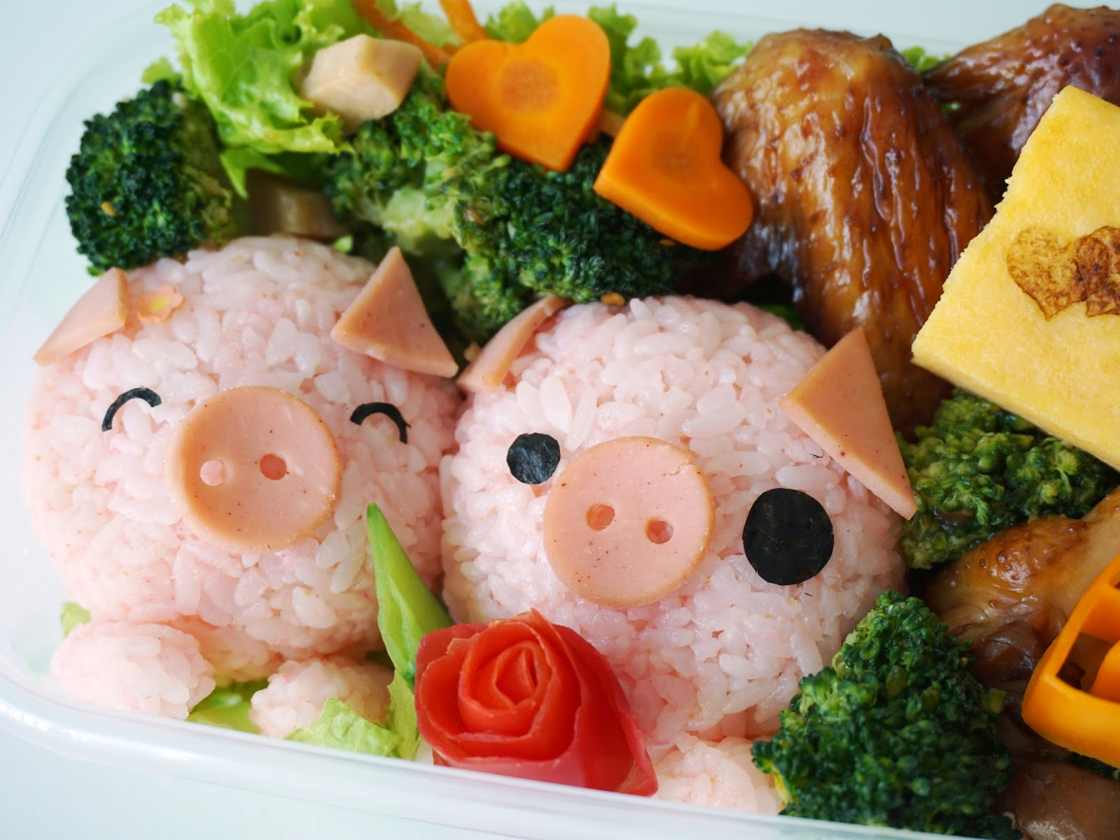 Pinkypiggu kawaii piggies bento recipe youtube video littlemissbento 39 s kawaii bento recipe - Stylish cooking ...