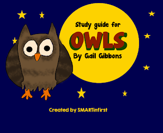 http://www.teacherspayteachers.com/Product/Owls-By-Gail-Gibbons-Study-Guide-950377