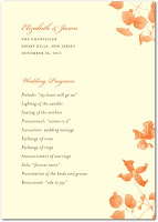 Autumn Wedding Programs