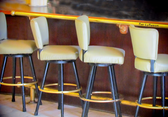 At the bar:  Stools