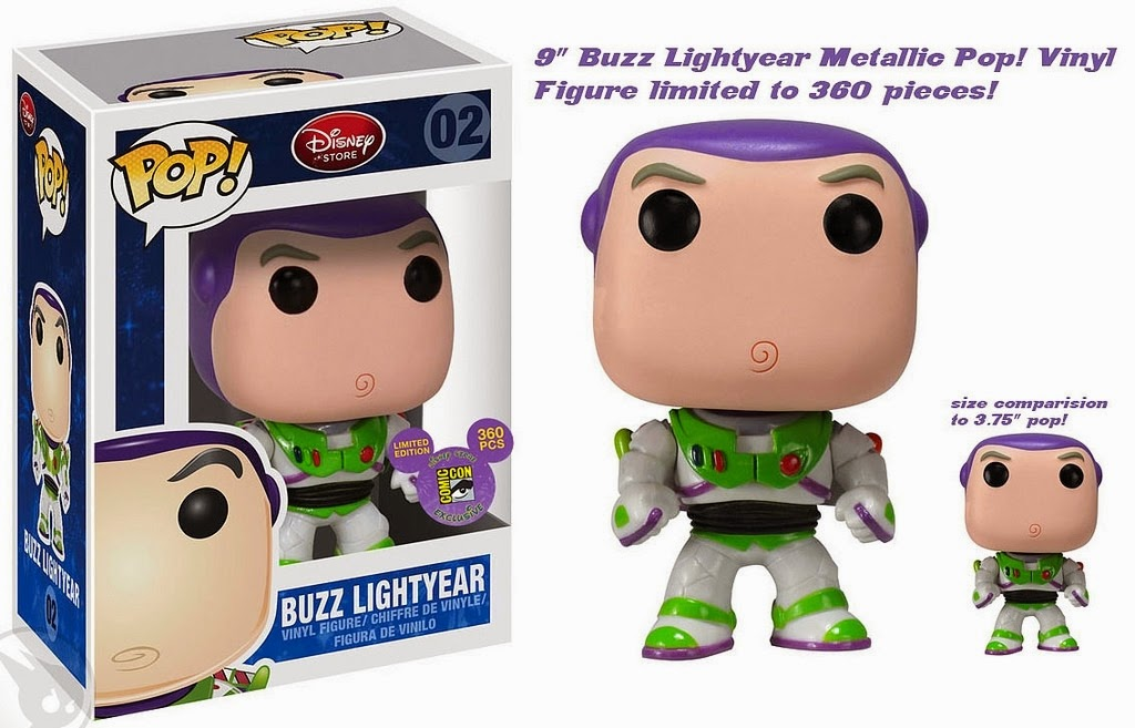 "9""  ""Metallic"" Buzz Lightyear [SDCC 2011] Funko Pop!"