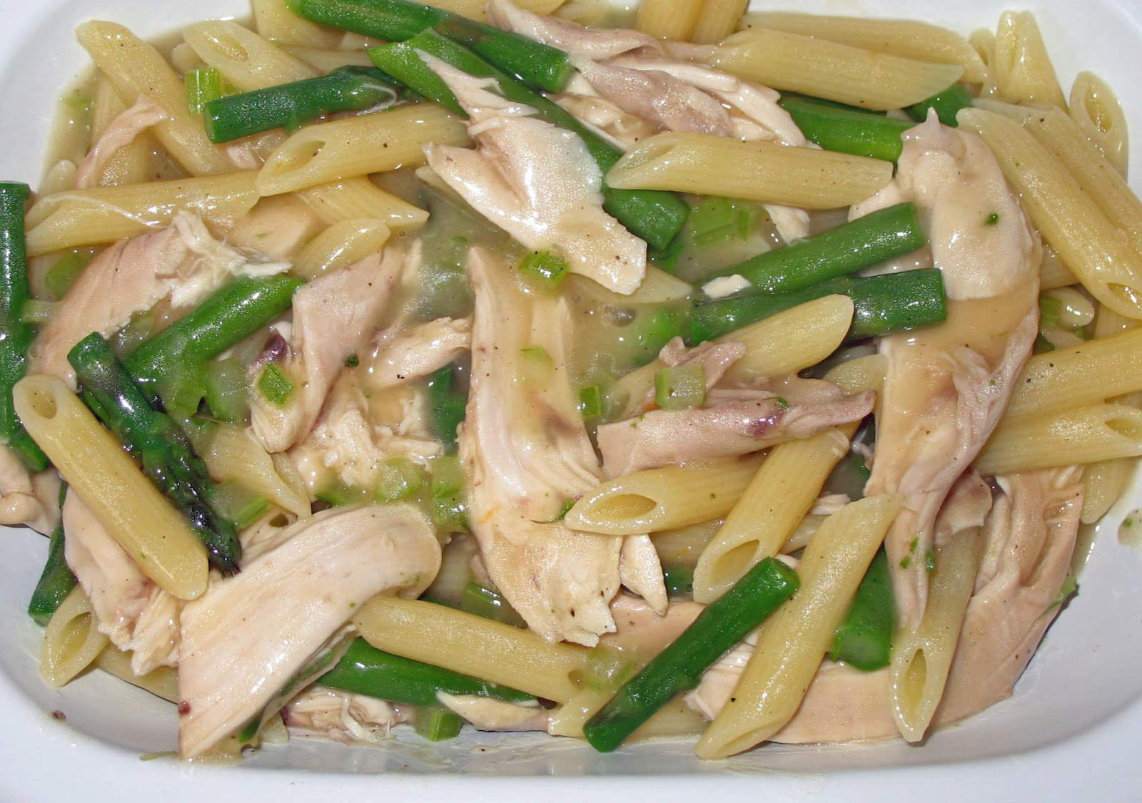 Drain the pasta and asparagus and rinse under cold running water ...
