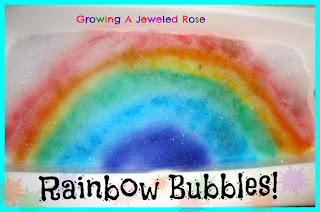 rainbow bubbles rainbow activities