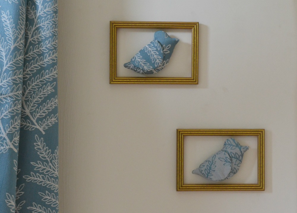 fabric hanging birds in frames matching curtains hillarys blinds