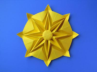 Origami Sole - Sun by Francesco Guarnieri