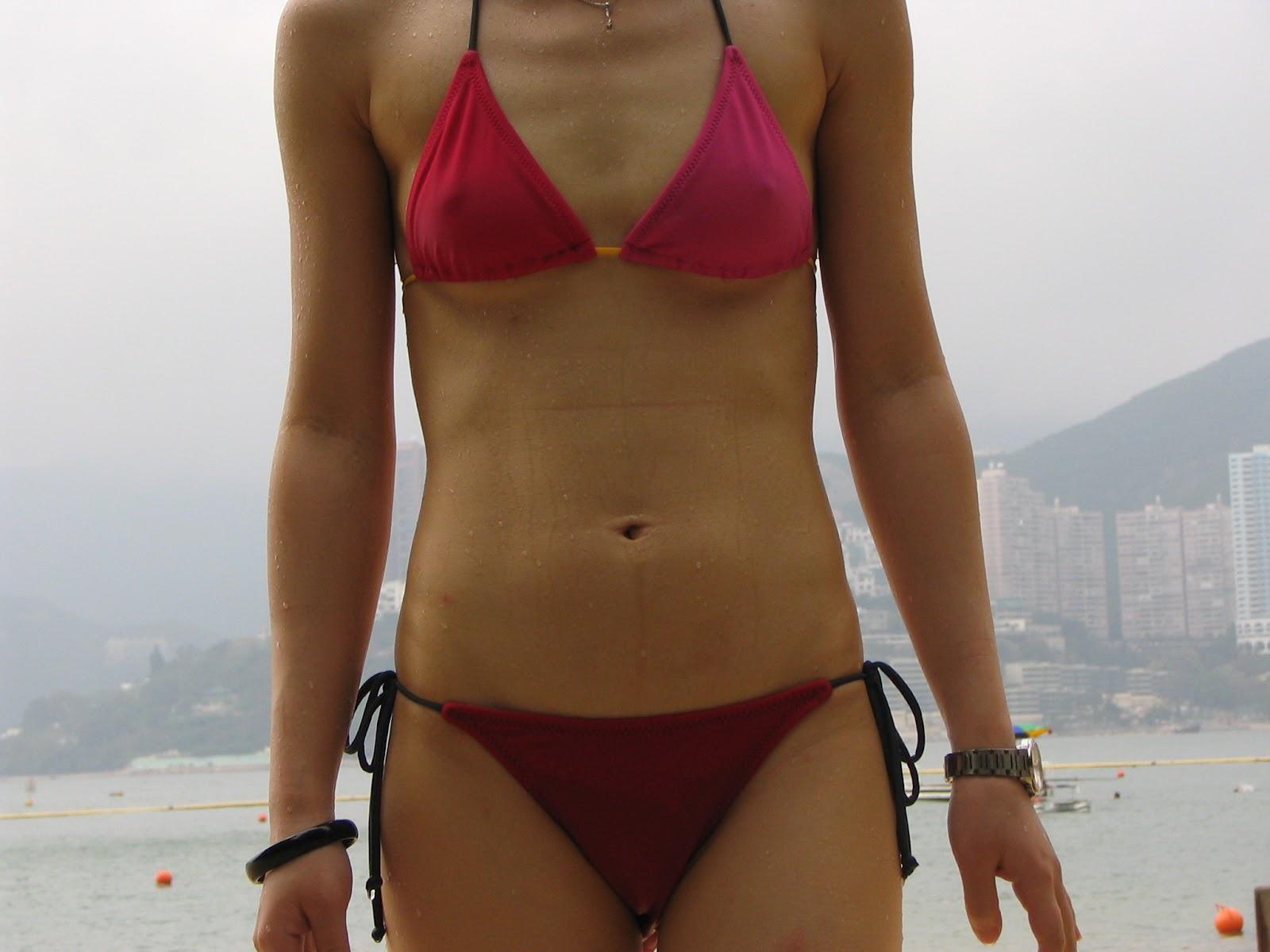 Super Cute Chinese Hong Kong Girlfriend's slutty swimsuit ...