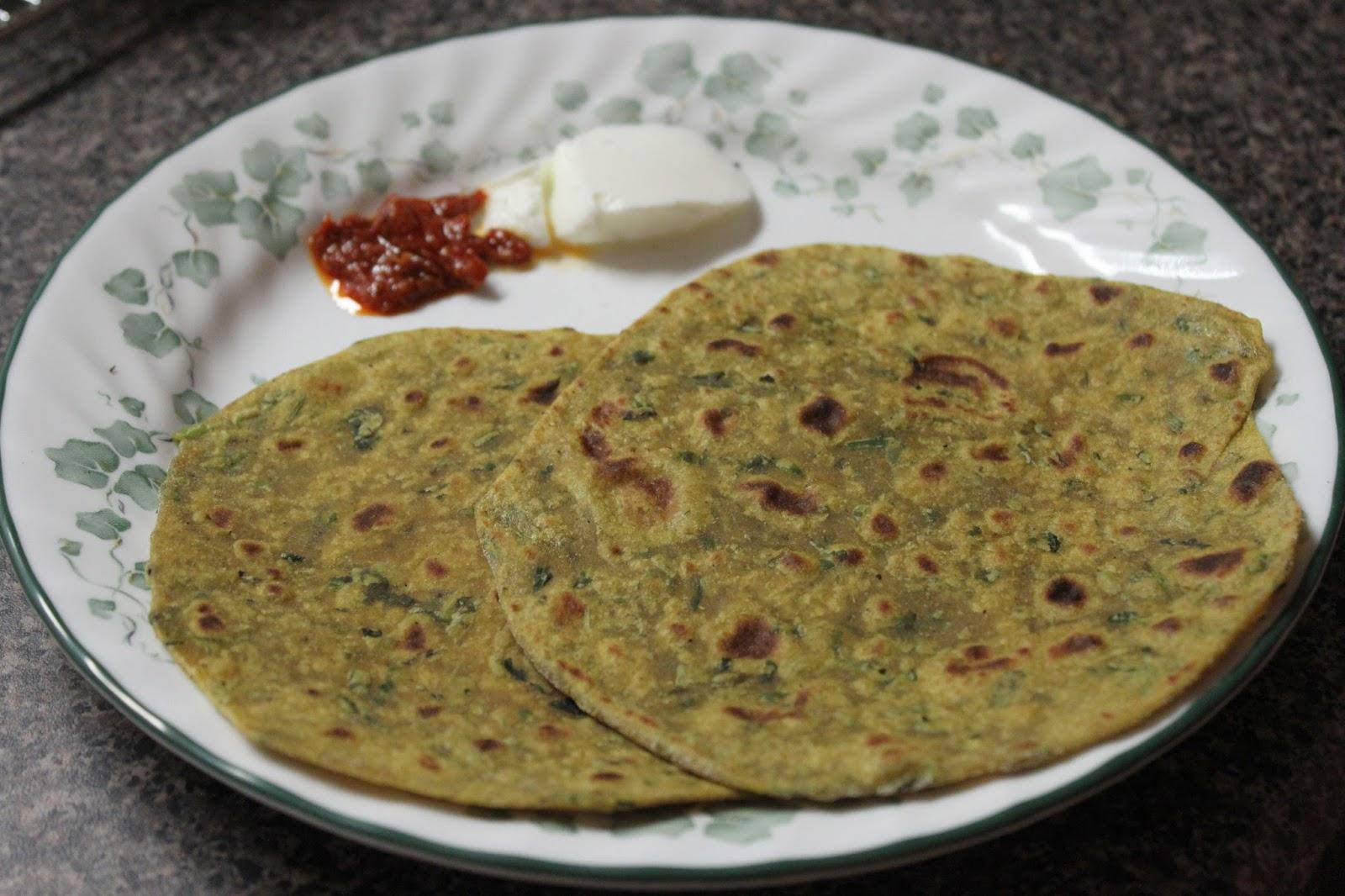 Tribute to Cooking: Fenugreek-Cilantro-Mint Roti / Paratha