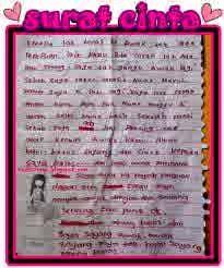 Contoh Surat Cinta Paling Romantis Mengharukan Terbaru 2014