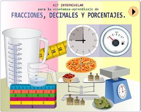 Kit internivelar para la enseñanza-aprendizaje de fracciones, decimales y porcentajes