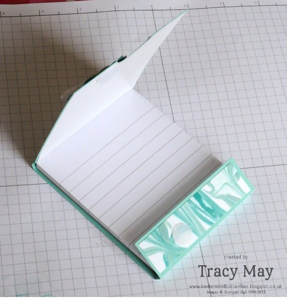 Stampin up Flower Shop notepad holder Tracy May gift ideas