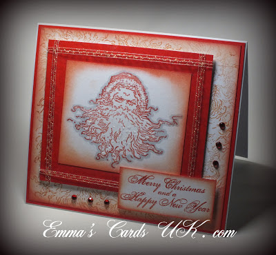 Visible Image Christmas stamps Vintatge Santa