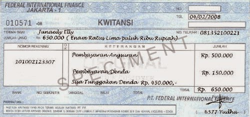Contoh Kwitansi Pembayaran Yang Sah Daftar Contoh O