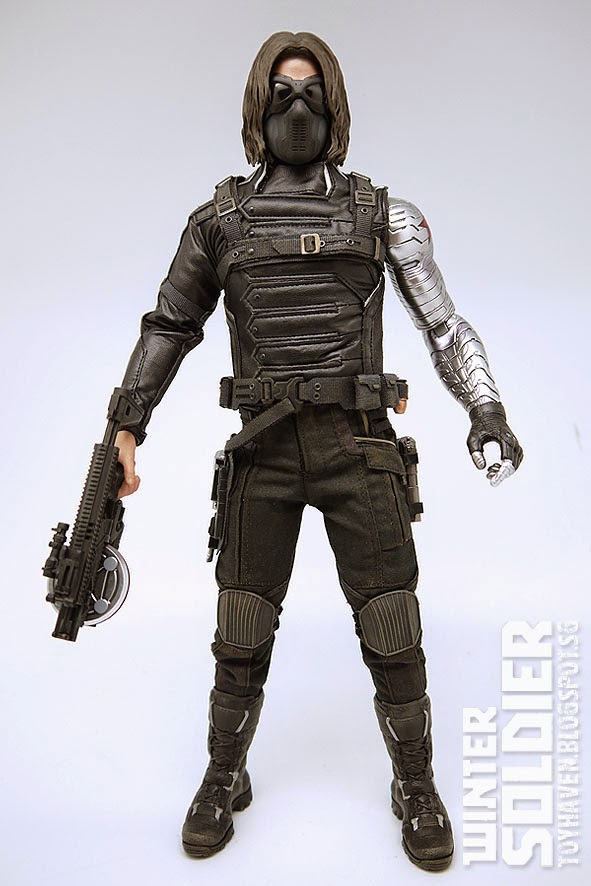1//6 Scale Captain America Winter Soldier Bucky Barnes Head Sculpt And Mask