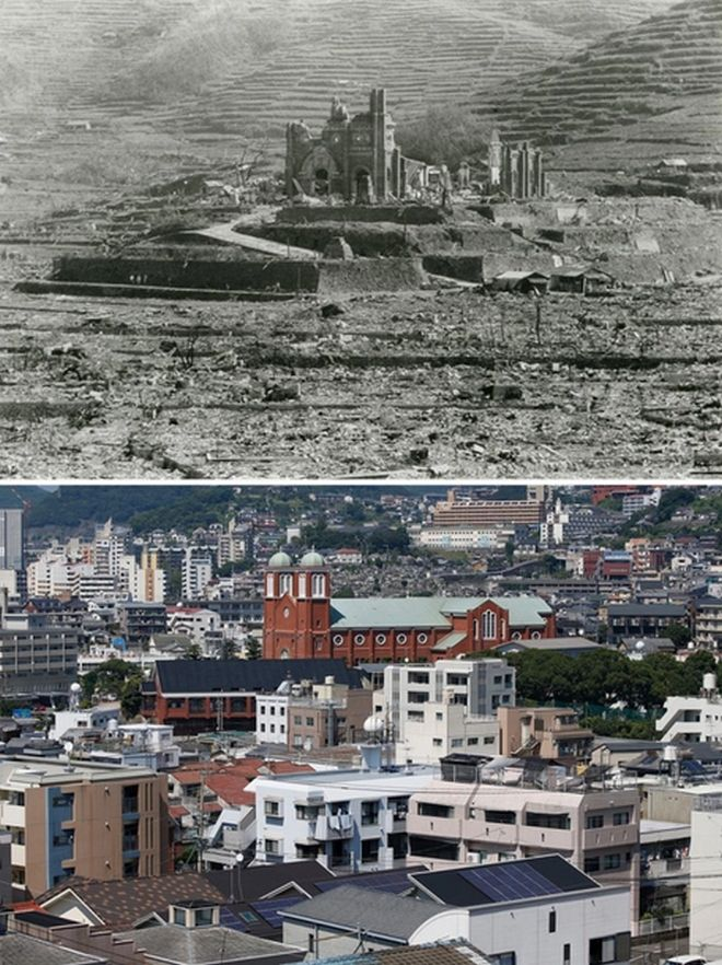 Hiroshima Then And Now You Won't Believe What It Looks Like Today! - Urakami Cathedral in Nagasaki