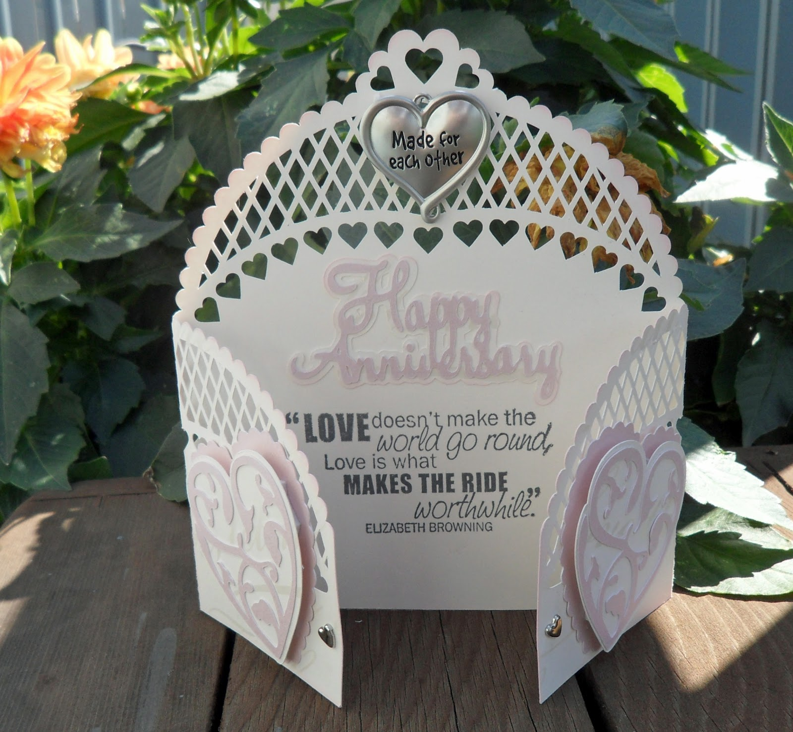 Fantabulous cricut challenge blog fantabulous friday 165 wedding - I Decided On A Anniversary Card