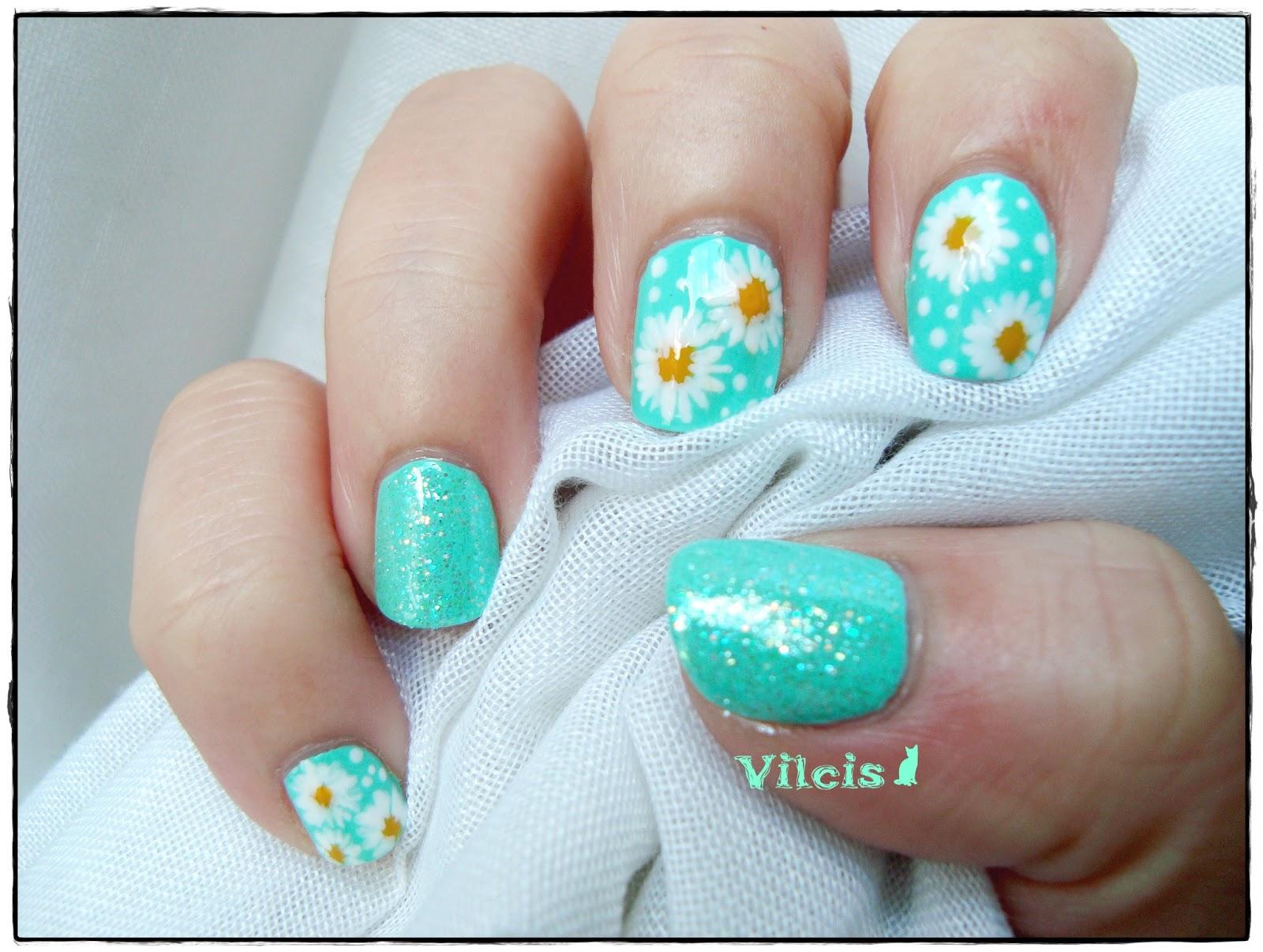 Vilcis nail designs: Bienvenida primavera - margaritas en las uñas