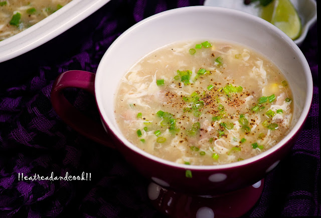 how to make sweet corn and egg soup recipe