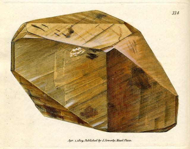 CALX carbonata, var. metastatica. Metastatic crystallised Carbonate of Lime. Plate no. 314