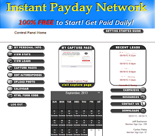 instant payday network backoffice
