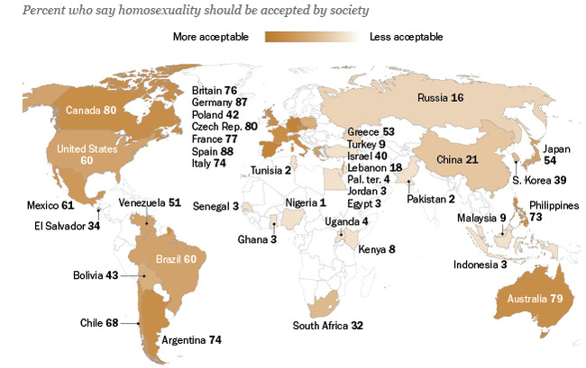 the acceptance of homosexuality in south We examine the statistics behind the rate of acceptance in the gay community.